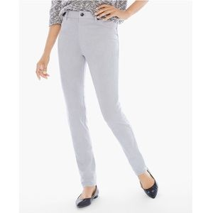 Chico's Knit Suede Pants In Feather Stone 2 (12-L)